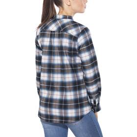 Royal Robbins Merinolux Plaid Chemise à manches longues en flanelle Femme, poseidon